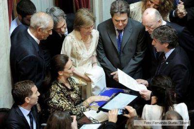 Juraron los senadores nacionales electos en los comicios de octubre