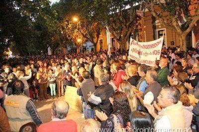 San Pedro: Una multitud marchó y reclamó mayor seguridad