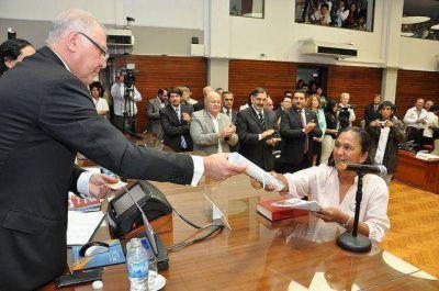 Jujuy: jura de diputados fue una fiesta para Milagro Sala