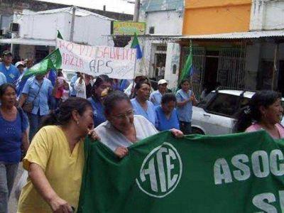 Apsades profundiza la lucha por aumento salarial