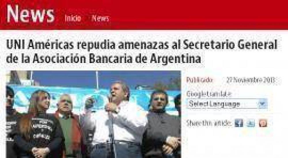 """Organismo sindical internacional manifiesta su """"estupor"""" por amenazas contra Sergio Palazzo en Tucumán"""