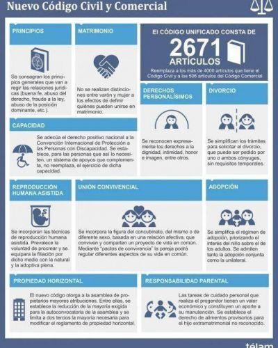 Matrimonio, adopción, reproducción asistida y defensa al consumidor, ejes del nuevo código para los argentinos