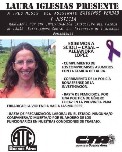 Marcha de ATE a 6 meses del asesinato de Laura Iglesias