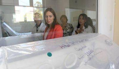 Vidal recorrió las obras del Hospital Piñero