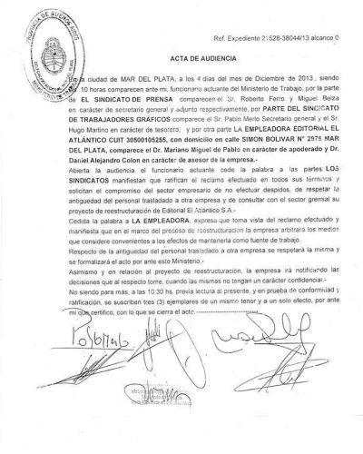 """Diario El Atlántico: """"Una vez más nos mintieron"""""""