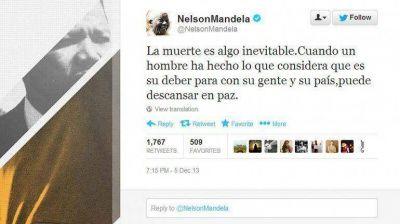 El último tuit en la cuenta oficial de Mandela