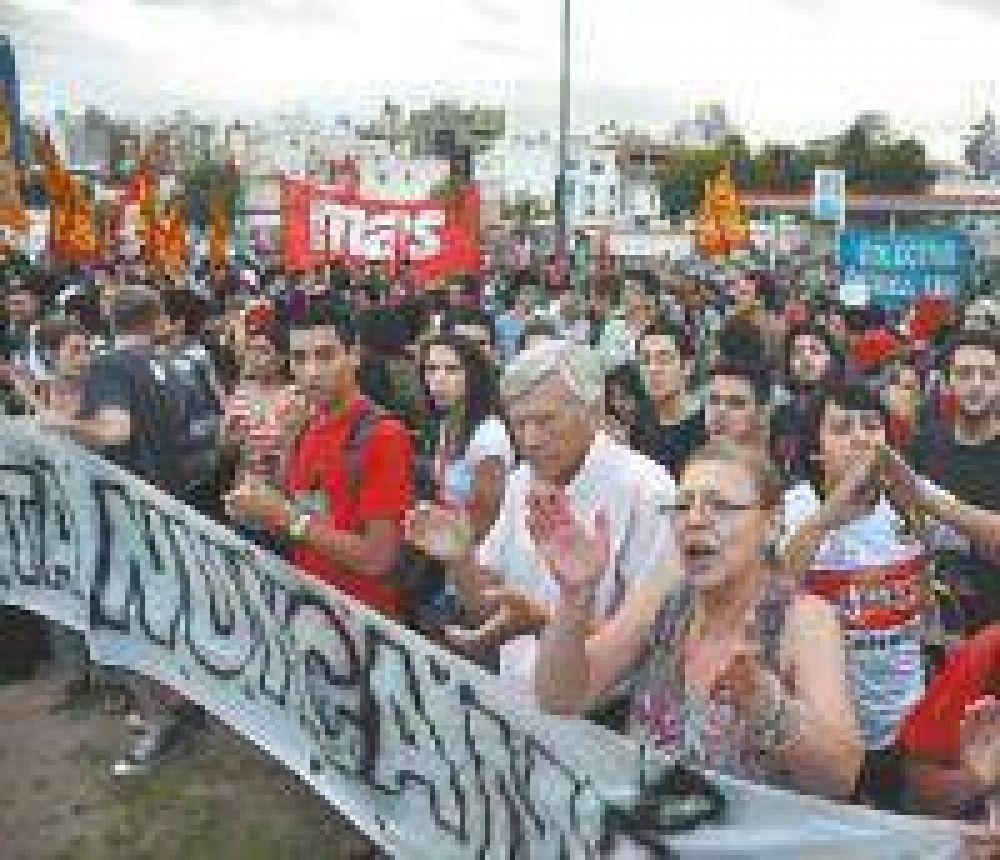 Protesta de los gremios estatales