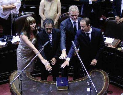 Insaurralde, Massa, Di Tullio y Pitrola prestaron juramento