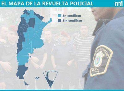 El mapa de la revuelta policial