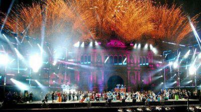 Artistas participaron de los festejos por los 30 años de democracia