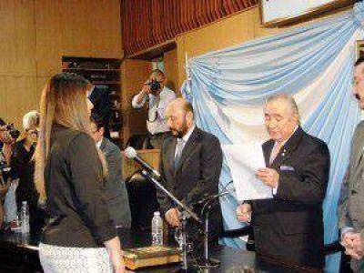 Insfr�n asisti� al juramento de los quince nuevos diputados provinciales