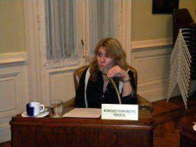 La presidente del HCD Alejandra Lordén dijo que se vienen dos años complejos