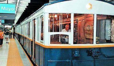 Harán circuitos nocturnos con los viejos vagones de la línea A