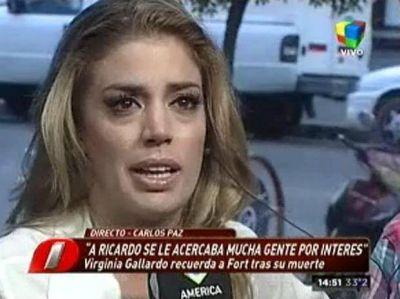 El dolor de Virginia Gallardo al recordar a Ricardo Fort