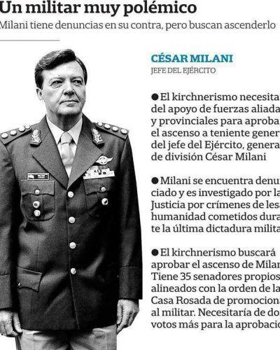 El oficialismo necesita el apoyo de aliados para el ascenso de Milani