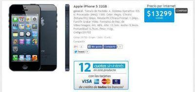 Ya se puede comprar el iPhone 5 en la Argentina