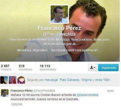 Pérez anunció por Twitter que mañana habrá más cambios en el Gabinete