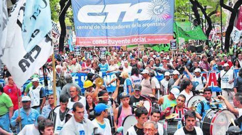 La CTA marcha esta tarde a la Plaza de Mayo para reclamar un bono de $ 2.000