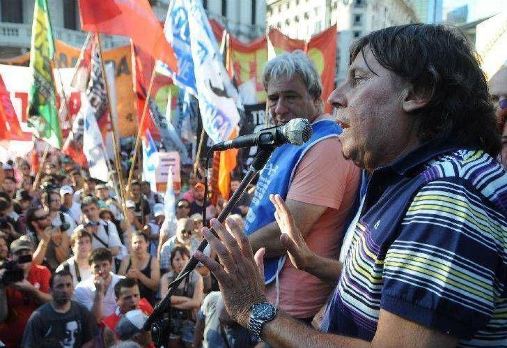 CTA disidente marchó a Plaza de Mayo