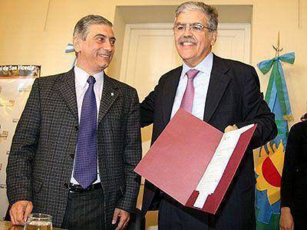 SAN VICENTE   ELECCIONES    Junto a Di Sabatino, De Vido anunció obras por 100 millones