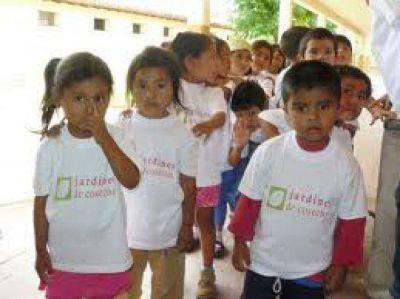 Abren 10 jardines de infantes para niños de zonas rurales