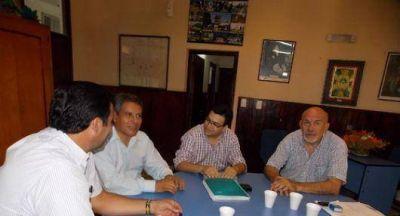 Reunión con directivos del Santander Río