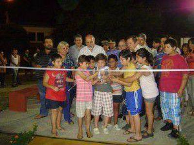 Inauguraron nuevo espacio recreativo en el barrio Cono Sur