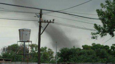En medio de la ola de calor, hubo un tornado en Santa Fe