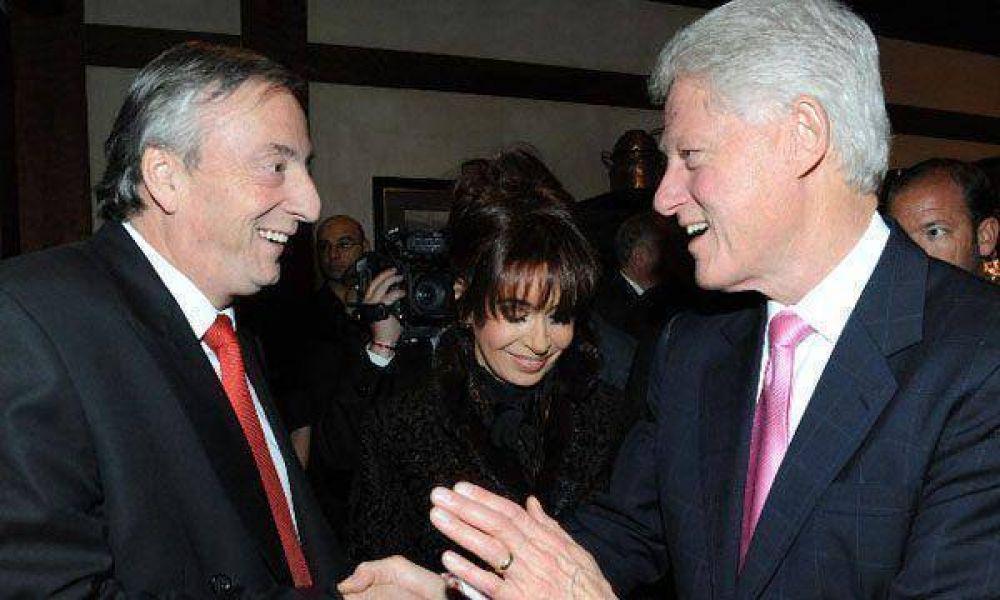 """Tras reunirse con Bill Clinton, Kirchner espera una """"nueva etapa"""" en la relación con EEUU"""