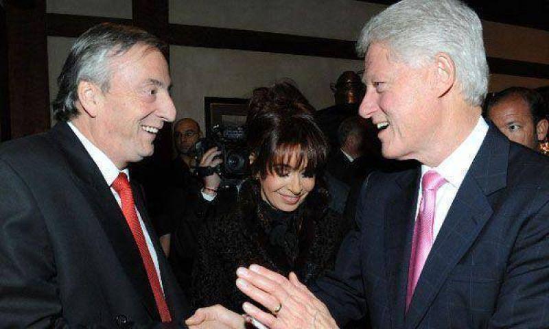 """Tras reunirse con Bill Clinton, Kirchner espera una """"nueva etapa"""" en la relaci�n con EEUU"""