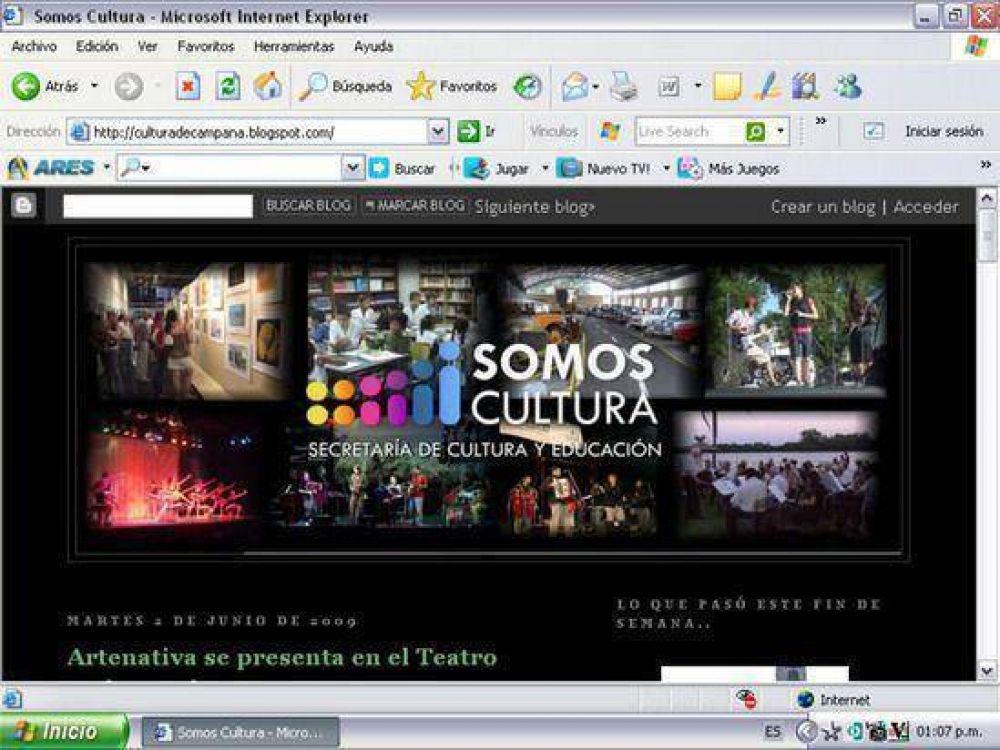 culturadecampana.blogspot.com La Secretaría de Cultura y Educación presenta su blog
