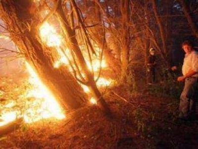 La noche dio una tregua al voraz avance de las llamas en Sierra de los Padres