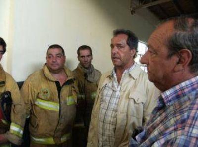 Scioli visitó Claromecó y prometió ayuda a los damnificados