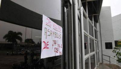 El Suoem paraliza casi todo el municipio por la no renovaci�n de 7 contratos
