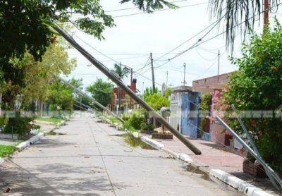 Un vendaval castigó a Resistencia con apagones de hasta 20 horas