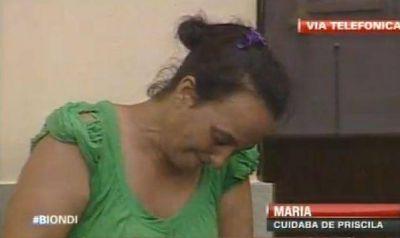 """La madrastra de Priscila: """"No pude hacer nada para que esto no le pase"""""""