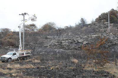 El incendio en Sierra de los Padres generó inconvenientes de luz y agua