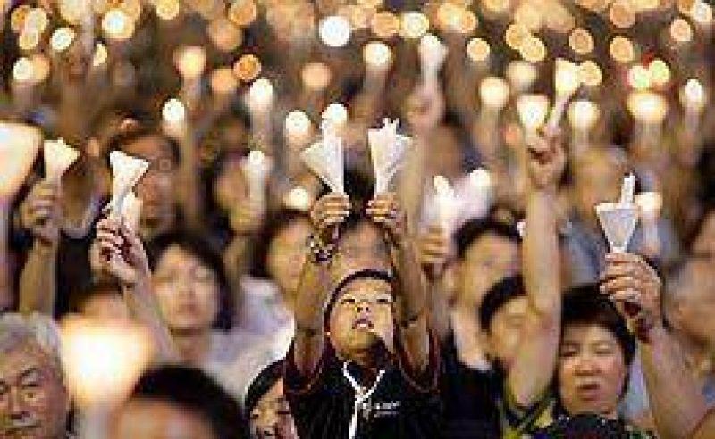 Hong Kong recordó los 20 años de la matanza de Tiananmen