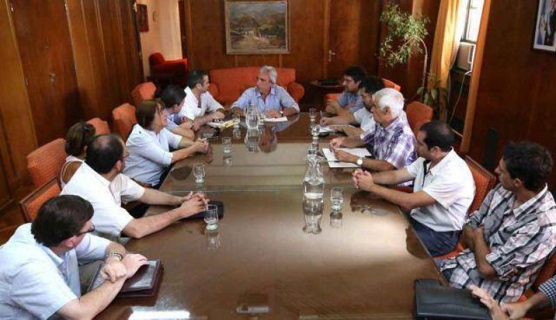 Lafalla se reunió con gremialistas de la CGT y CTA