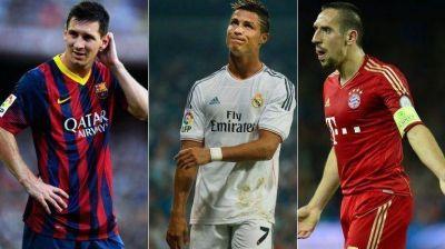 Balón de Oro: Ronaldo y Ribéry buscan destronar a Lionel Messi