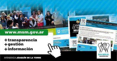 Con el foco puesto en la transparencia, la gestión y el acceso a la información San Miguel lanza su nueva Página Web