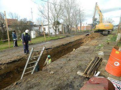 Obras pluviales beneficiarán a 1500 vecinos de Jorge Newbery