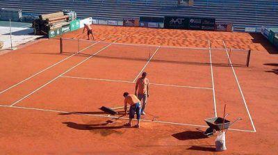 Una empresa escobarense construyó la cancha de la Copa Davis en Mar del Plata