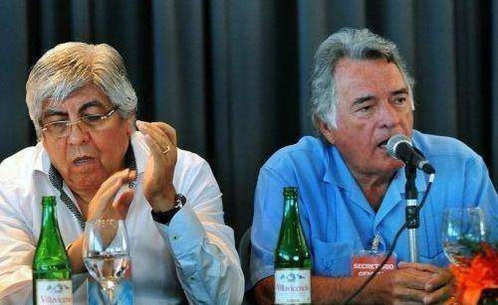 """Barrionuevo y Moyano celebraron pacto para la """"unidad sindical"""""""