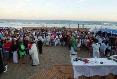 El Obispo celebró la eucaristía donde cayó el rayo en Gesell