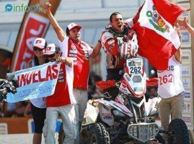 Cañuelas en el podio del Dakar 2014