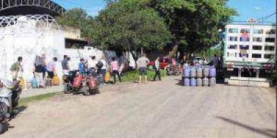Pirané: Venta de gas social sin inconvenientes