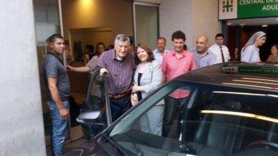 El gobernador José Luis Gioja recibió el alta médica