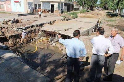 La obra del desag�e de calle Entre R�os presenta un avance del 60 por ciento