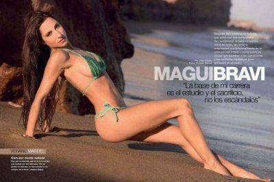 """Magui Bravi, sexy en Mar del Plata: """"Prefiero a la mujer natural, apuesto por la buena alimentación y el entrenamiento"""""""